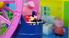 【<B>小猪</B><B>佩奇</B>玩具秀】<B>小猪</B><B>佩奇</B>一家人去游乐场玩的儿童玩具小故事