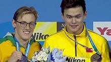 世锦赛400米自由泳孙杨勇夺三连冠