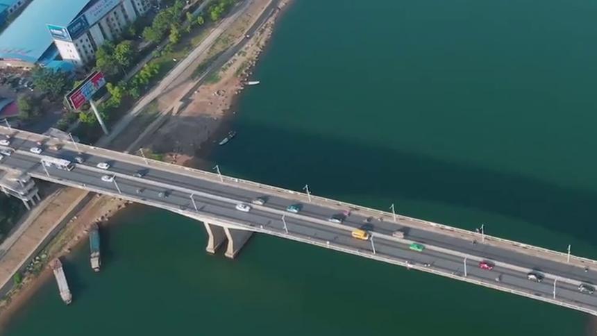 飞阅湘江的桥|永州潇湘大桥